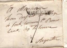 Marseille Pour Argentec 1819 - Storia Postale