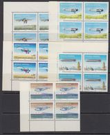 Argentina 1985 Airplanes 5v  Bl Of 4 (corner) ** Mnh (41810) - Ongebruikt