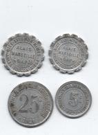 Lot 4 Jeutons Monétaires De Nécessité - Monétaires / De Nécessité