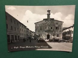 Cartolina Cagli - Piazza Matteotti E Palazzo Comunale - 1960 - Pesaro