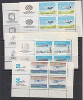 Argentina 1985 Airplanes 5v  Bl Of 4 (corner+labels) ** Mnh (41810A) - Ongebruikt