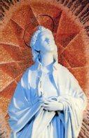 Roma - Santino SANTA LUCIA, Statua In Marmo Dello Scultore FRANCESCO NAGNI, Chiesa S. Lucia - OTTIMO P88 - Religione & Esoterismo