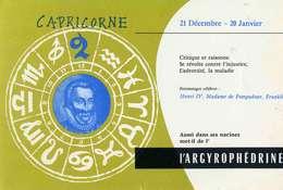 "B 15  /   1 BUVARD  "" ARGYROPHEDRINE ""  CAPRICORNE - Blotters"