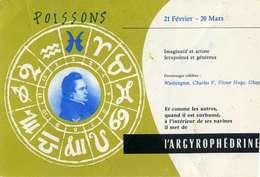 "B 15  /   1 BUVARD  "" ARGYROPHEDRINE ""  POISSONS - Blotters"