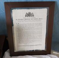 ORDINE DI NON PORTARE UNIFORMI O COCCARDE SPADE - SANTA ROSA ASTI 1814 - - Documenti