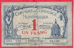1 Franc Chambre De Commerce De Montpellier  Dans L 'état (134) - Chambre De Commerce