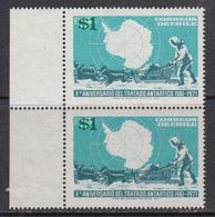 Chile 1982 Antarctic Treaty 1v Overprinted (pair) ** Mnh (41811A) - Chili