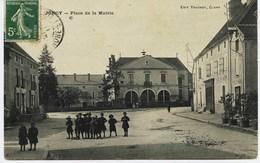 6558 - Saone Et Loire - JONCY  : Place De La Mairie , Café Du Raisin Et Boulangerie à Droite (disparus ??)  - CIRCULEE - Other Municipalities