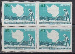 Chile 1982 Antarctic Treaty 1v Overprinted Bl Of 4 ** Mnh (41811B) - Chili