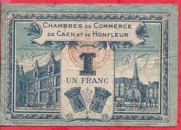 1 Franc Chambre De Commerce De Honfleur Dans L 'état (137) - Chambre De Commerce