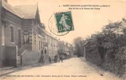 80 - Somme / 10035 - Saint Quentin La Motte Croix Au Bailly - Rue De Bas Et Bureau De Poste - Other Municipalities