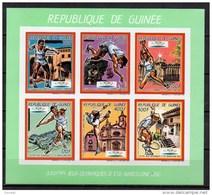 GUINEA 1992 SPORT, OLYMPIC GAMES MNH MI. 1187 - 92 GREEN IMPERF. - Summer 1992: Barcelona