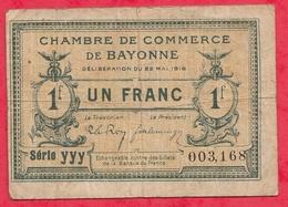 1 Franc Chambre De Commerce De Bayonne Dans L 'état (144) - Chambre De Commerce