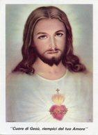 Santino Formato Cartolina CUORE DI GESÙ, RIEMPICI DEL TUO AMORE  Collegio Missionario S. Cuore Andria - OTTIMO P88 - Religione & Esoterismo