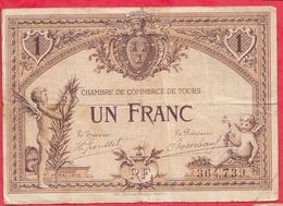 1 Franc Chambre De Commerce De Tours Dans L 'état (145) - Chambre De Commerce