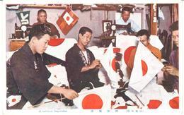 POSTAL   JAPON  - A NATIONAL FLAG-MAKER - Japón