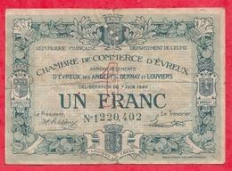 1 Franc Chambre De Commerce D'Evreux Dans L 'état (147) - Chambre De Commerce