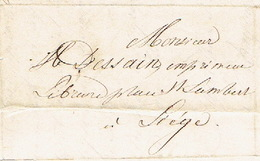 Précurseur 28/12/1847 Lettre Par Le Messager MASSET De HERVE à LIEGE - Signé BAYAUX-PARIS Imprimeur-libraire - 1830-1849 (Belgique Indépendante)