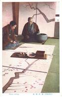 POSTAL   JAPON  -PAINTER WRITING - Japón