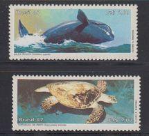 Brazil 1987 Marine Fauna 2v ** Mnh (41813) - Brazilië