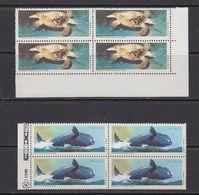 Brazil 1987 Marine Fauna 2v Bl Of 4 ** Mnh (41813A) - Brazilië