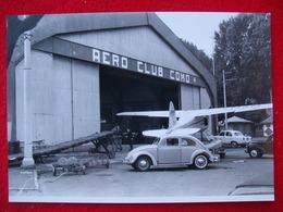FOTOGRAFIA HANGAR AERO CLUB  COMO + MAGGIOLINO VW E ALFA ROMEO GIULIETTA - Aviazione