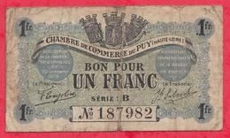 1 Franc Chambre De Commerce Du Puy Dans L 'état (153) - Chambre De Commerce