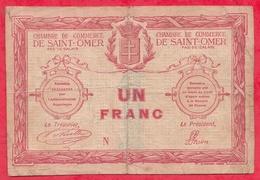 1 Franc Chambre De Commerce De St Omer Dans L 'état (156) - Chambre De Commerce