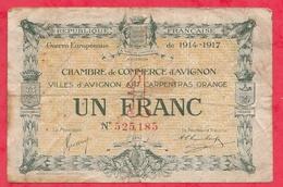 1 Franc Chambre De Commerce D' Avignon Dans L 'état (158) - Chambre De Commerce