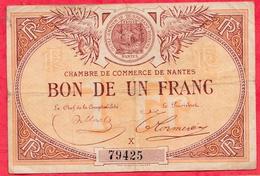 1 Franc Chambre De Commerce De Nantes Dans L 'état (159) - Chambre De Commerce