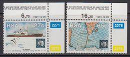 South Africa 1991 30th Anniversary Antarctic Treaty 2v (corners) ** Mnh (41814) - Zuid-Afrika (1961-...)