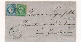 Lettre Tarif Septembre 1871 Castres Tarn N°37,42 - Marcophilie (Lettres)