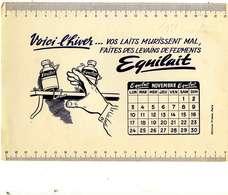 "B 17  /   1 BUVARD  ""EQUILAIT "" CALENDRIER 1951 - Blotters"