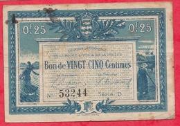 25 Centimes Chambre De Commerce De La Roche /S/ Yon Dans L 'état (163) - Chambre De Commerce