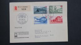 Lettre Recommandé Bern 29 VI 1948 Série Pro Patria 38 A 41 Pour Maubeuge France - Suisse