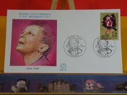 Edith Piaf - Paris - 16.6.1990 FDC 1er Jour N°1695 - Coté 4€ - FDC