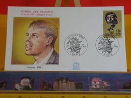 Jacques Brel - Paris - 16.6.1990 FDC 1er Jour N°1693 - Coté 4€ - FDC