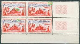 France 1954 - Variété En Bloc De 4 -10ème Anniversaire De La Libération - Y&T N°983 **Neuf Luxe 1er Choix . - Variétés Et Curiosités