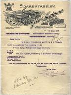 Gebr. HOUTMAN  Sigarenfabriek  's HERTOGENBOSCH  Brief  16 Juni 1913 - Pays-Bas