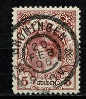 Ned. 1898/1923  Yv. 63  NVPH  79 Afst. Groningen 20 Feb 06 (2 Scans) - 1891-1948 (Wilhelmine)