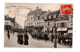 CPA 72 - Mamers - Place Carnot - Départ Du 115me Pour La Marche Militaire - Mamers