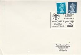 (D0290) GB Obliteration Du 17iéme Jambore Mondial Corée Du Sud 1991 Londres - Lettres & Documents