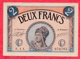 2 Francs  Chambre De Commerce De Paris Dans L 'état (173) - Chambre De Commerce