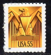 USA 2001 Art Deco Eagle 55c Value Self-adhesive Definitive, MNH (SG 3960) - United States
