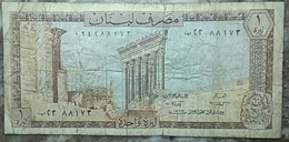Lebanon One Lira 1972 - Liban