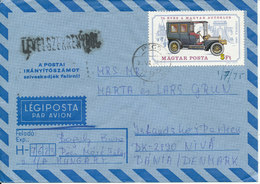 Hungary Air Mail Cover Sent To Denmark 27-6-1975 Single Franked - Airmail