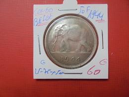 """CONGO BELGE 50 FRANCS 1944 ARGENT DITE: """"ELEPHANT""""  QUALITE:VOIR PHOTOS - 1934-1945: Leopold III."""