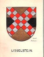 IJsselstein Tekenles Heraldiek IJsselstein Klas Den Haag ± 1938 Karel Aalbers (verf) 12½ X 9½ Cm (Gra-29) - Oude Documenten