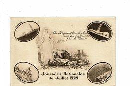 Cpa MONUMENTS AUX MORTS Lorette Douaumont Dormans Vieil Armand JOURNEE NATIONALE JUILLET 1929 - Monuments Aux Morts