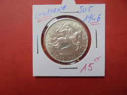 """LUXEMBOURG 50 FRANCS 1946 """"CHEVALIER""""  ARGENT - Luxembourg"""